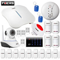 Fuers W1 WiFi PSTN Home Burglar Alarm System RFID keyboard Kit IP wifi  Camera +phone APP Remote Control Security Alarm Kit