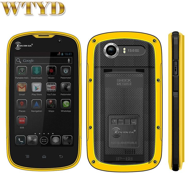 KEN XIN DA Proofing W5 Smartphone ROM 8GB RAM 1GB IP68 Waterproof Shockproof 4 0 Andriod