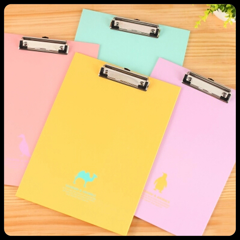2 Pieces/Lot Free shipping office supplies /clipboards A4 /notes folder / folder / write sub-plate holder / WordPad Stationery candy color clipboards a4 notes folder write sub plate wordpad stationery clip file paper file folder holder school supplies