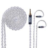 Yinyoo 4 Core чистого серебра повышен кабель 2,5/3,5 мм балансный кабель с MMCX/2pin разъем для KZ AS10 ZS10 ED16 HQ5 HQ6 HQ8