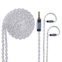 Yinyoo 4 rdzeń czyste srebro zmodernizowany kabel 2.5/3.5mm kabel zbalansowany ze złączem MMCX/2pin złącze dla AS10 ZS10 ZS6 ED16 HQ8