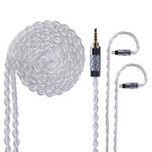 Yinyoo Cable mejorado plata pura de 4 núcleos 2,5/3,5mm, Cable equilibrado con conector MMCX/2 pines para AS10 ZS10 ZS6 ED16 HQ8