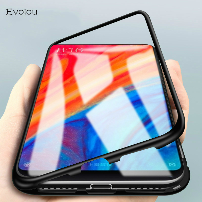 the latest 21f83 d75e7 Magnetic Case for Huawei Honor 8x Max Case Metal Tempered Glass Magnet  Cases for P20 Mate 20 Lite V10 Nova 3i Mate 10 Back Cover