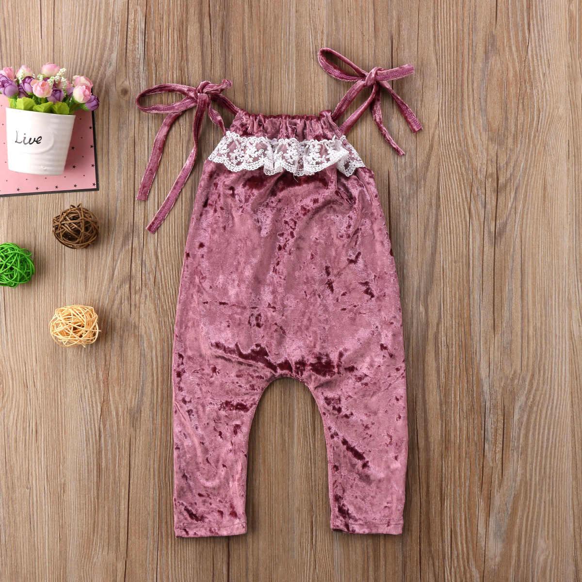 Ropa de bebé recién nacido 2018 nuevo terciopelo encaje mangas pelele para niñas princesa niñas en general bebé Niñas Ropa 6-5 años