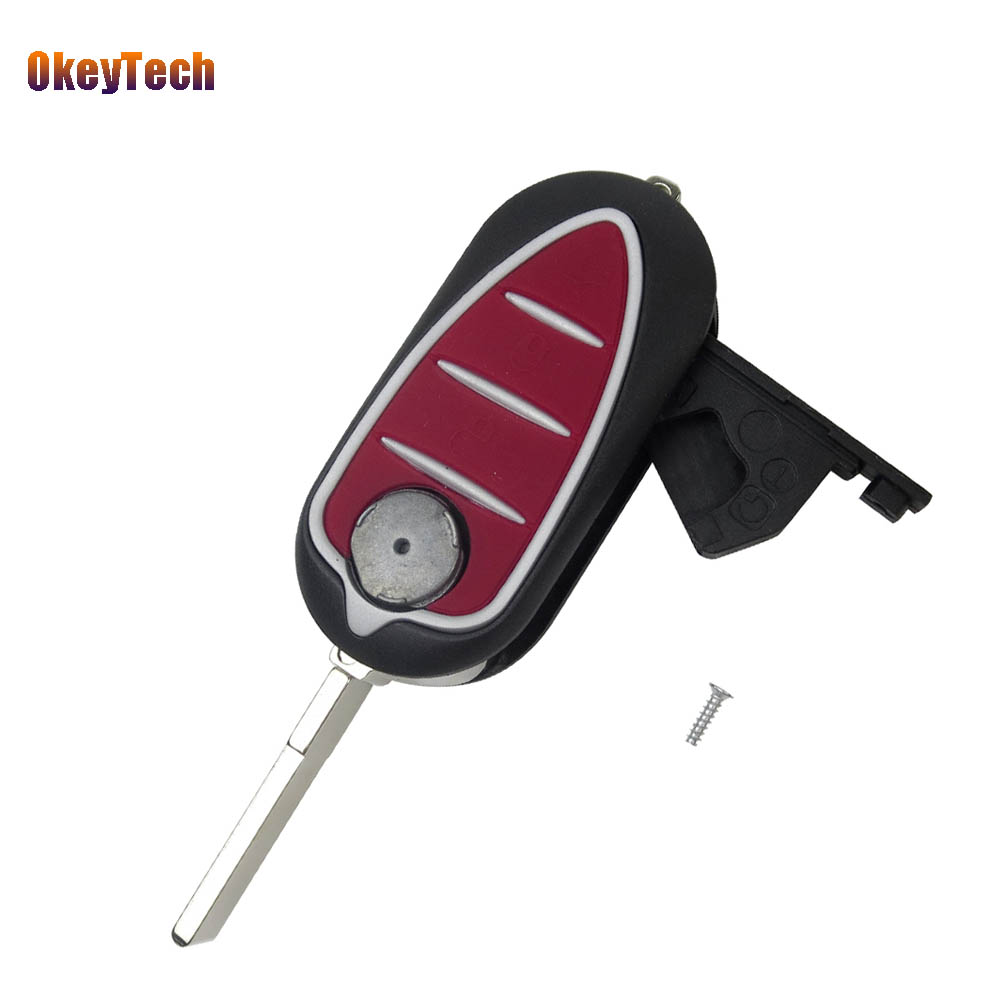 OkeyTech $4.99 3 Button Remote Blank Key Shell Keyles Entry Case Flip Car Key For Alfa Romeo Mito Giulietta 159 GTA Cover Case усилитель blaupunkt va 275