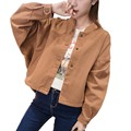 Loose Sleeves Short Denim Jacket Women Bomber Spring Female Jean Jacket Short Spring Jackets For Women Coat Large size