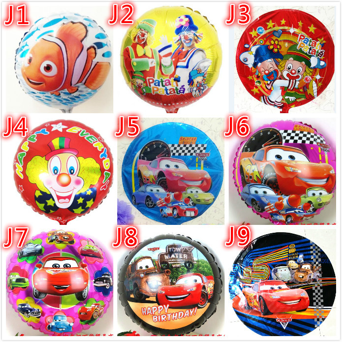 18inch 20pcslot car balloons foil helium ballons cars ballon for