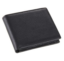 Vintage Casual Men Wallets Genuine Leather Male Purse Cowhide Short Bifold Black / Coffee Card Holders Wallet Purse #MD-J8062