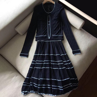2 Pieces Dress Set Women 2019 Spring Summer Dress Set for Women Dress Sets Two Pieces Elegant Dress and Tops High Quality