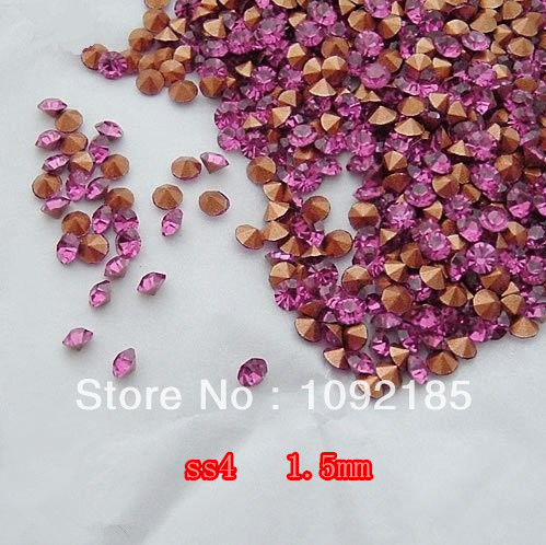 SS4 14400Pieces 100Gross Point Back Rhinestone Rose Color Point Back Chaton Free Shipping степлер мебельный gross 41001