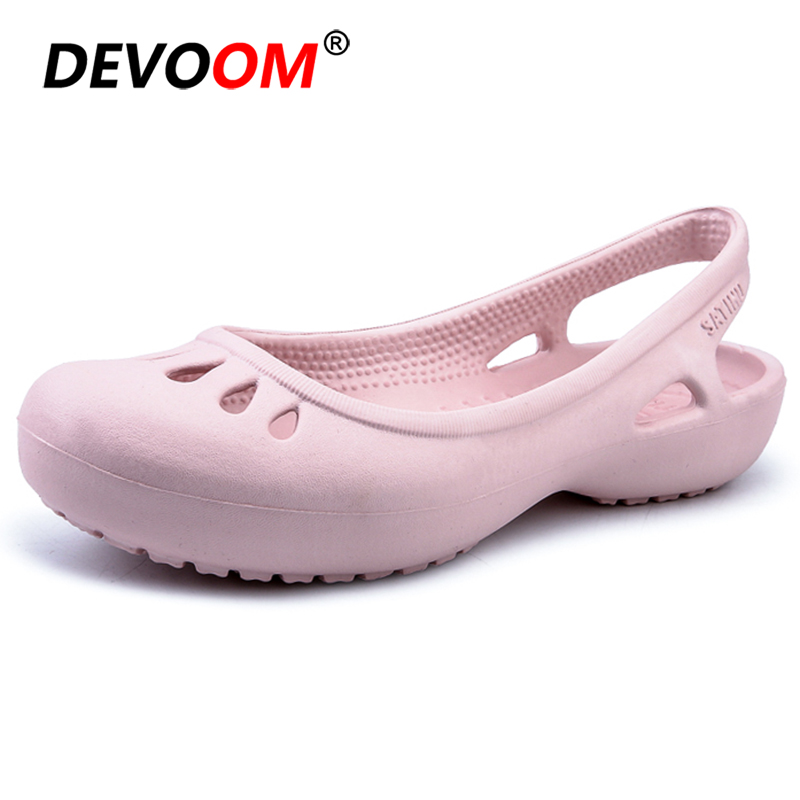 Women Outdoor Sandals 2019 Garden Lady jelly Shoes Summer Slippers Women Shoes Casual Sandals Hollow zuecos Mujer Beach Shoes 40