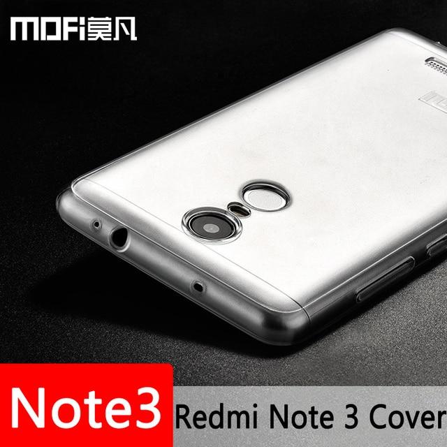 xiaomi redmi note 3 pro case silicone thin clear MOFi original xiomi redmi note3 cover back clear TPU coque note 3 prime fundas