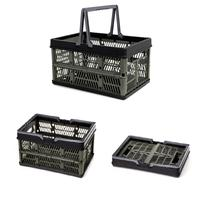 Collapsible Storage Bin for Storage Cloth Storage Baskets Crate with Folding Handles Container