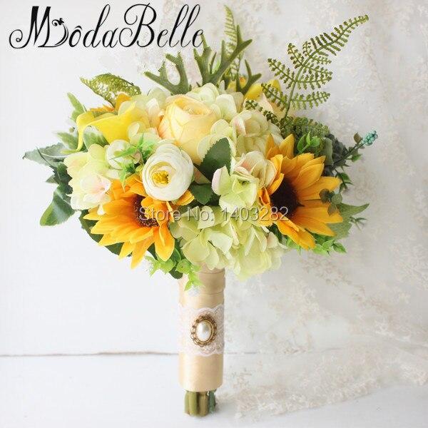 Artificial de Girasol Amarillo Calla lily Nupcial Broche de la Boda Nupcial de Las Flores Hermosa Dama de Honor Ramos Ramos De Novia 2017