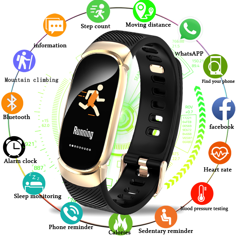 FäHig Bangwei Fitness Tracker Männer Gesunde Uhr Frauen Herz-monitor-sport Modus Schrittzähler Wasserdichte Uhr Relogio Inteligente Box Uhren