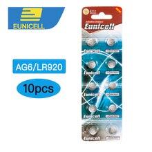 10pcs AG6 371 SR920SW LR920 SR927 171 370 L921 LR69 SR920 1.55V Button Cell watch Coin Alkaline Battery