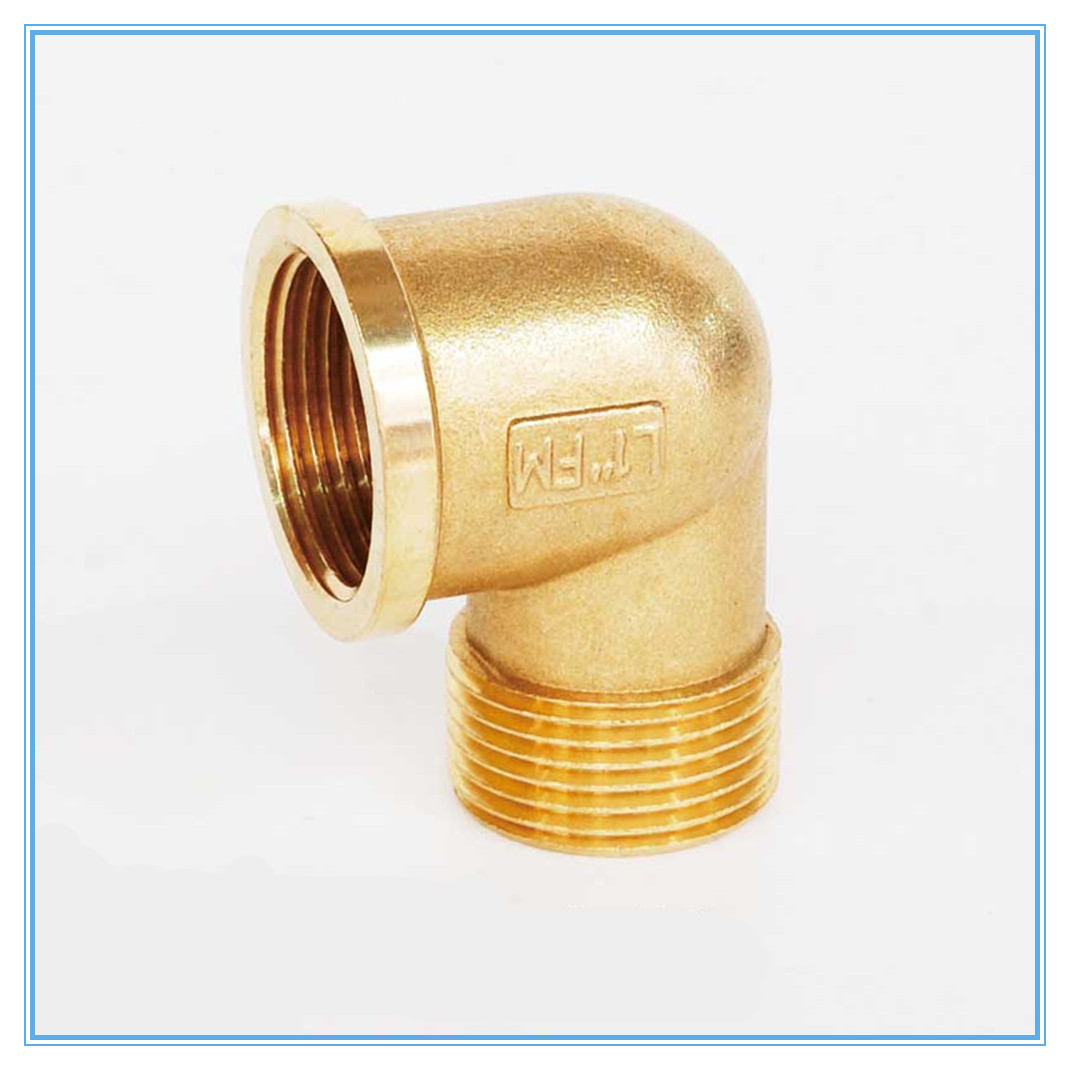 "1/8"" 1/4"" 3/8"" 1/2"" Female X Male Thread 90 Deg Brass Elbow Pipe Fitting Connector Coupler For Water Fuel  Copper"
