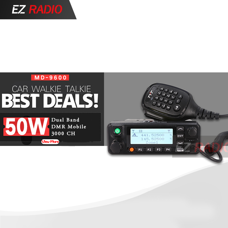 TYT MD 9600 Talkie Walkie 50 KM Mobile DMR Car Radio Digital 136 174 400 480MHz