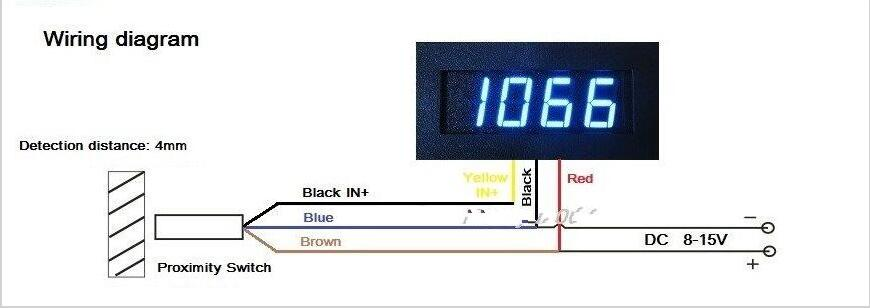 New Blue LED Tachometer RPM Speed Meter + Proximity Switch Sensor ...