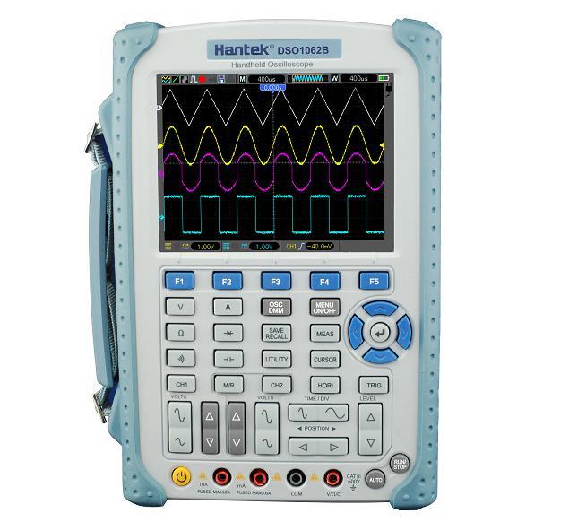 Hantek DSO1062B 2 Channels Digital Multimeter Oscilloscope 60Mhz Bandwidth LCD USB Handheld Osciloscopio 6000 Counts DMM