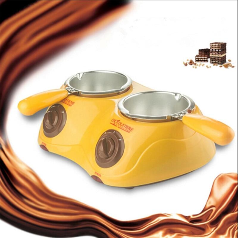 Hot Sale Dual Electric Chocolate Fountain Fondue Hot Chocolate Melt Pot melter Machine