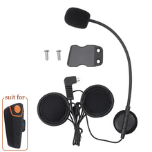 1*Fodsports Intercom Headphone Earpiece +1*Clip for BT-S2 1000M Bluetooth Helmet Headsets Interphone Stereo Earphone