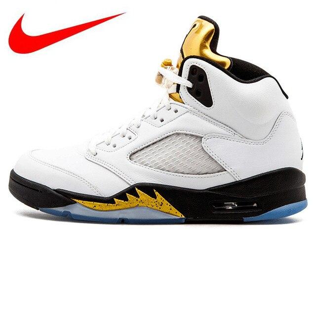 wholesale dealer 26154 47407 Hot Sales Nike Air Jordan 5 Retro Olympic AJ5 Joe 5 Olympic Gold Medal In  Men s Basketball Shoes, Original Comfortable Shoes