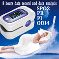 SPO2 PR PI ODI Data analysis Memory Recall 8 Hours Sleep Measure  Fingertip Pulse Oximeter Blood Oxygen SpO2 visual/Sound Alarm