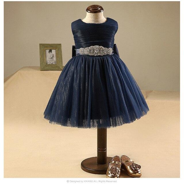 32d98c4fc Glizt Diamond Belt little flower girls dresses for weddings Baby Party  frocks 1 year Birthday Dress kids prom dresses