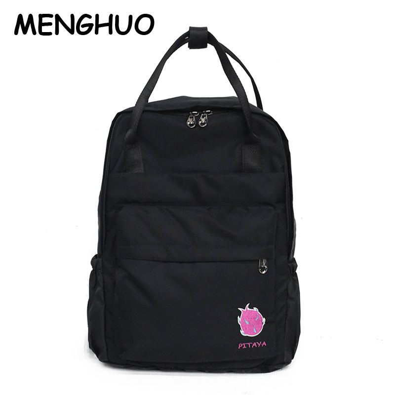 Menghuo Waterproof Nylon Ladies Backpack 2018 Autumn New Fashion Personality Student Bag Casual Wild Travel BackpackMenghuo Waterproof Nylon Ladies Backpack 2018 Autumn New Fashion Personality Student Bag Casual Wild Travel Backpack