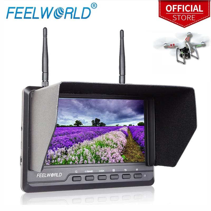 Feelworld FPV720 7 Inch FPV Monitor 1024x600 IPS Dual 5.8G 40CH Diversity Receiver LCD Monitor 7 Wireless Drone UAV Monitor feelworld fpv1032 10 1 wireless 5 8g 32ch drone rc rf receiver fpv monitor hdmi