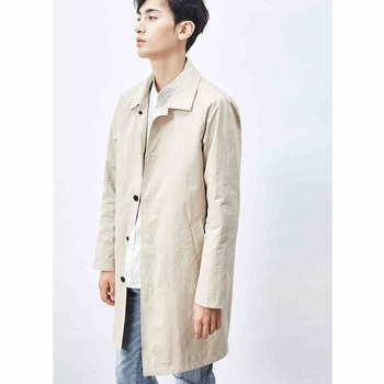 Fashion turn down collar cotton trench coat men single breasted comfortable casual outerwear 2019 new spring autumn