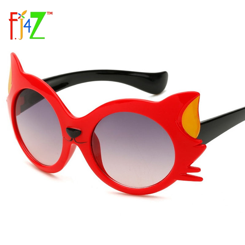2017 Kinderzonnebril Fashion Mooie Cartoon Kat Hoofd Baby Plastic montuur Coating Lens Baby's Eye Shades