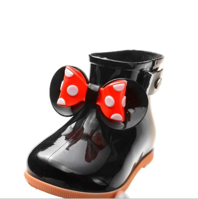 2019 Marka Yeni Mini Melissa 5 Renk yağmur çizmeleri Anti-Skid Jelly yağmur çizmeleri Erkek Melissa Kız Mickey Ayakkabı Jöle Bebek su ayakkabısı