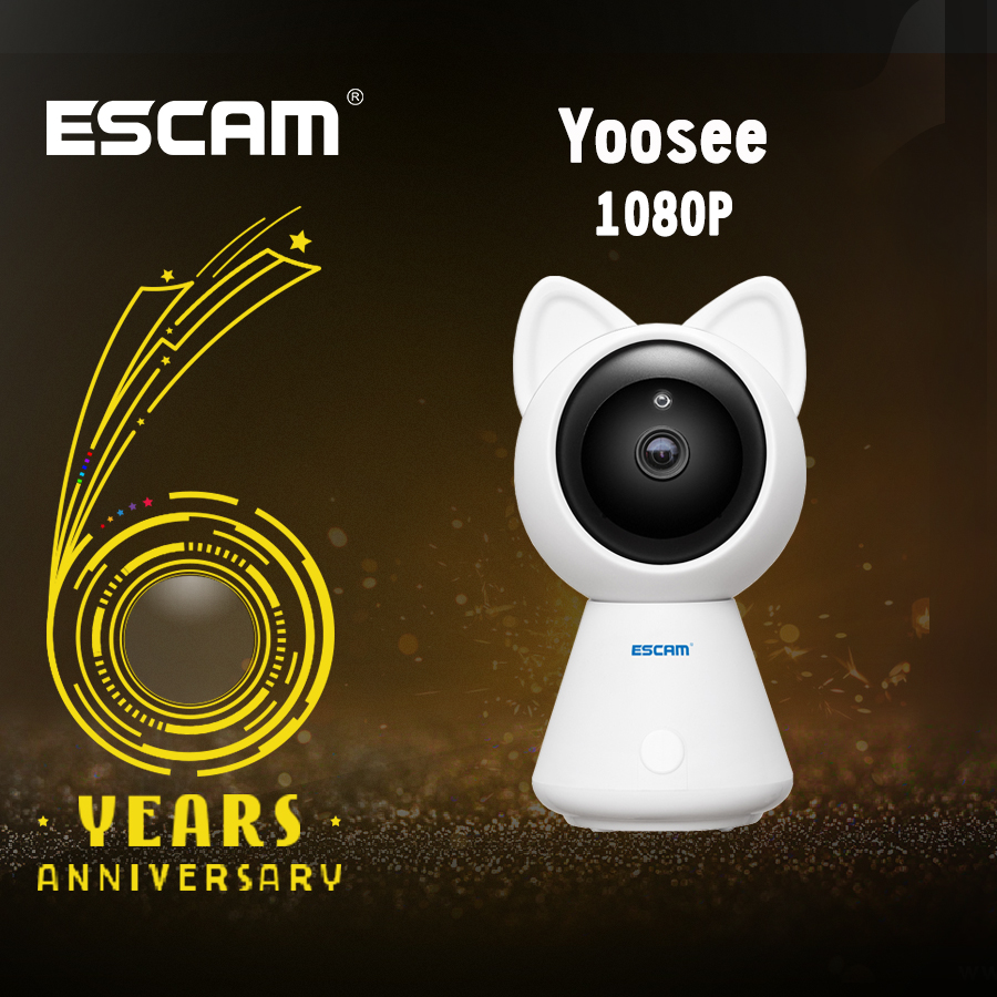 ESCAM QF509 HD 1080P Wireless Pan/Tilt Monitor Wifi IP IR Camera ONVIF Indoor Mini Network Camera Support Motion Detector escam q1039 onvif hd 1080p ip camera