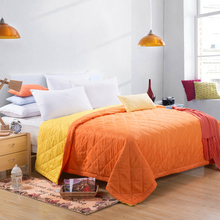 Premium 100% consolador poliéster orange amarillo doble cara colcha de primavera verano otoño invierno edredón full twin queen size manta