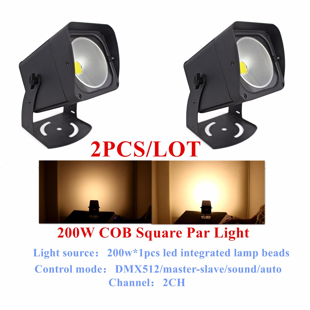 2PCS/LOT LED Par Light COB 200W High Power Aluminium DJ DMX Led Beam Wash Strobe Effect Stage Lighting,CW/WW/CW+WW Optional ...