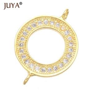 Круглые соединители для ювелирных изделий, хрустальные стразы, круглые соединители Karma Infinity, фурнитура для браслетов и сережек