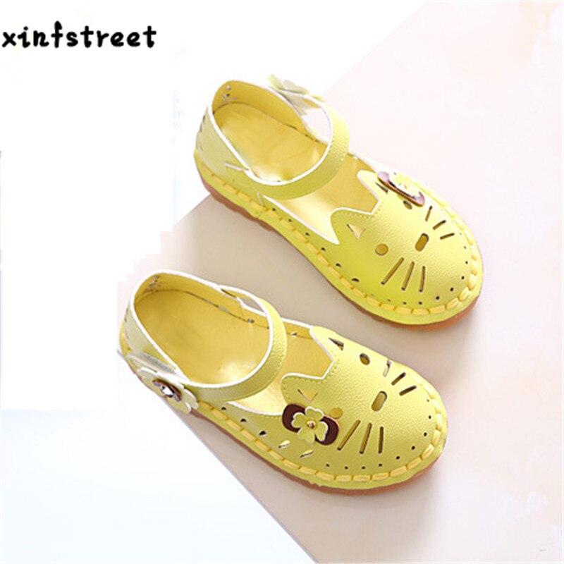 Xinfstreet Брендовая детская Обувь для девочек принцесса мягкая Каттон милого кота Дети Обувь для девочек Размеры 21-30