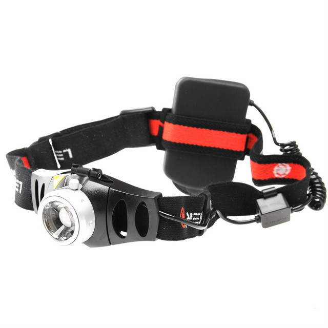 Wholesale Price High Performance Dimmable H7R LED Zoom Headlamp Rechargeable with 3 AAA Ni-MH Batteries and Adapter