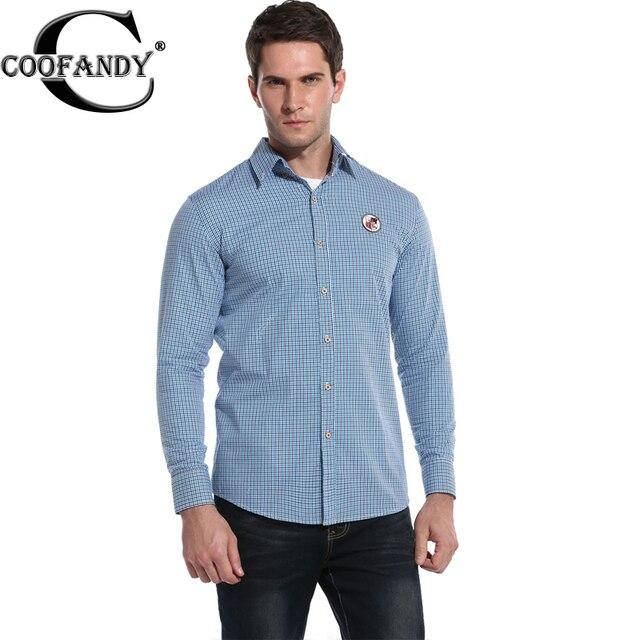 80ed024b4d94 COOFANDY Men Casual shirt Long Sleeve Turn Down Collar Button Plaid Shirt  Business Shirts for Men