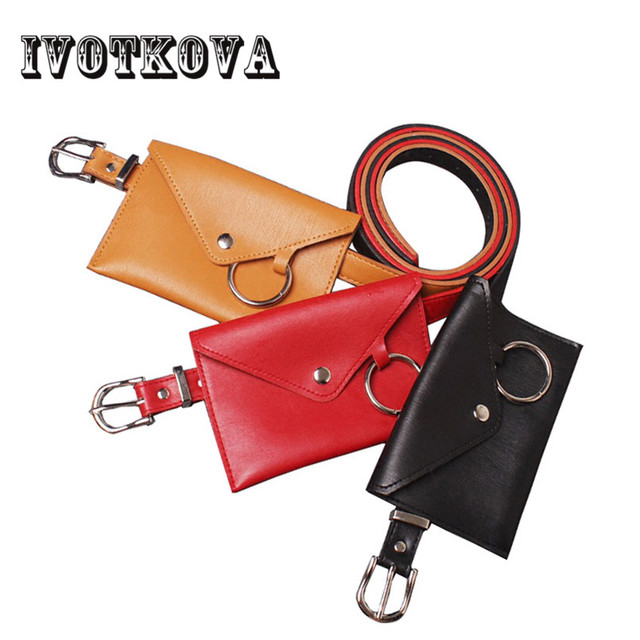 1425e9472ab IVOTKOVA Fashion Women Waist Bag Fanny Pack Belt Bag Travel Pouch Female  Solid Hip Bum Bags Women Small Purse Lock Decoration
