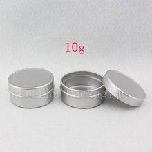 10g X 200 Leere Probe Kosmetische Creme Behälter Aluminium, Lip Balm Gläser, solide Parfüm Flasche Jar Zinn Lagerung Behälter Pot