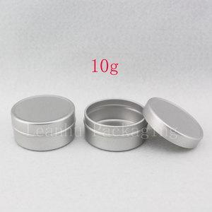Image 1 - 10g X 200 puste próbki pojemnik na krem kosmetyczny aluminium, balsam do ust słoiki, trwałe perfumy butelki Jar cyny pojemniki do przechowywania Pot