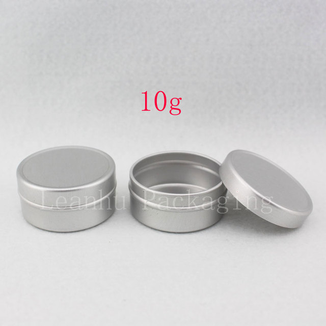 10g X 200 puste próbki pojemnik na krem kosmetyczny aluminium, balsam do ust słoiki, trwałe perfumy butelki Jar cyny pojemniki do przechowywania Pot