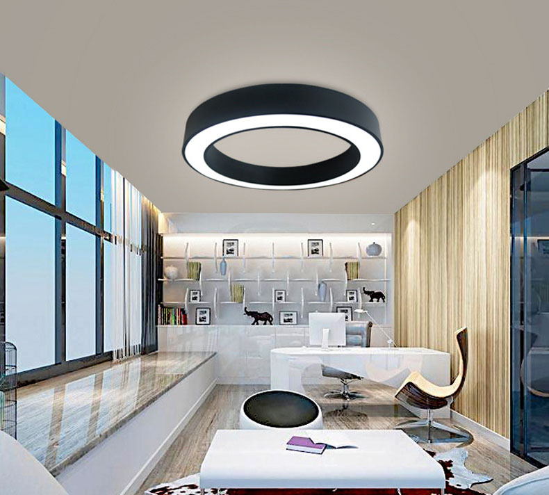 Модный железный подвесной светильник круглый металлический подвесной светильник ing morden светодиодный светильник подвесной светильник для гостиной спальни три размера - 5