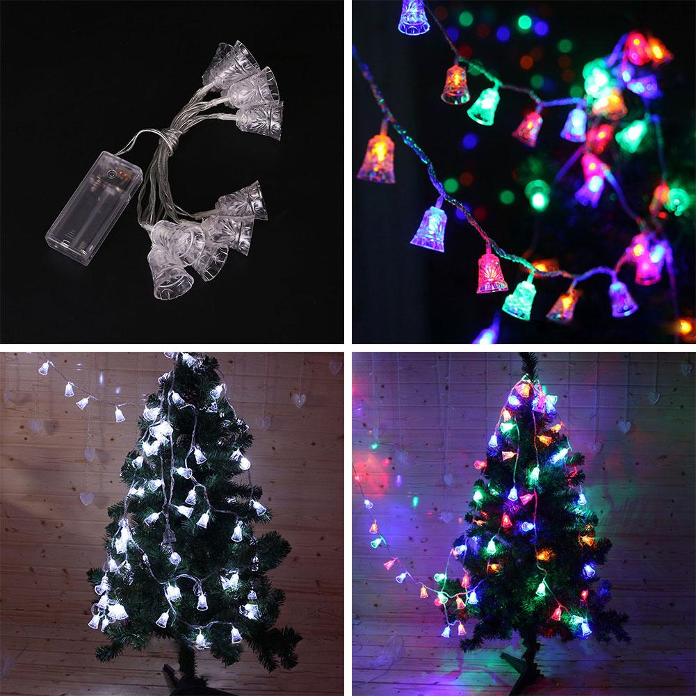 LED Bell Light String Lamp Fairy Lights Festival Christmas Decoration Colorful Waterproof 120cm 10 head battery power led string