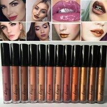 Maquillaje mate tinte de labios impermeable mate brillo de labios lápiz labial cosméticos nude líquido lápiz labial mate metálico labios lápiz