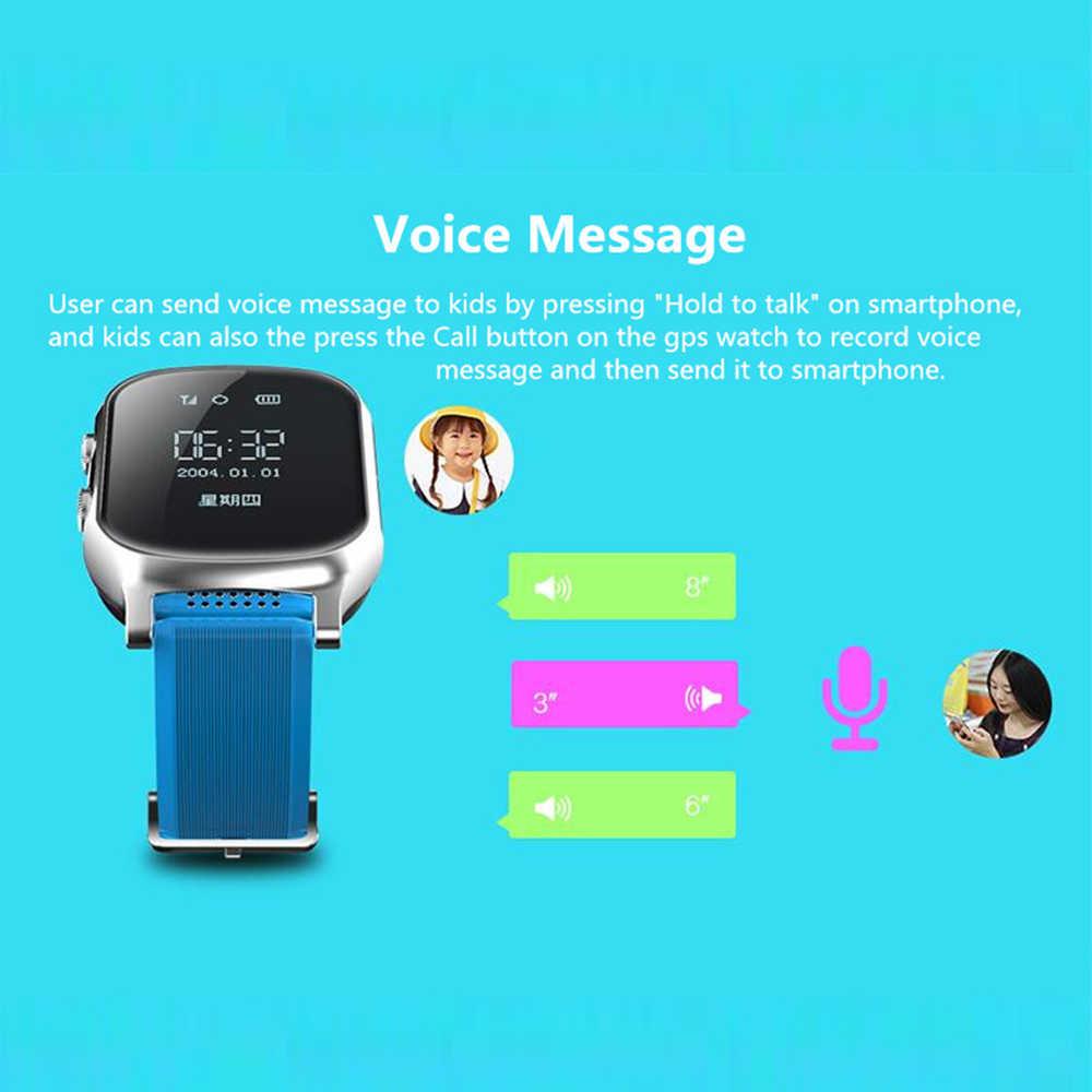 VJOYCAR T58 2G Mini GPS Tracker Children Smart Watch Women Men Wristwatch Phone Geo-fence Voice Talk SOS for Adult Kids Elderly