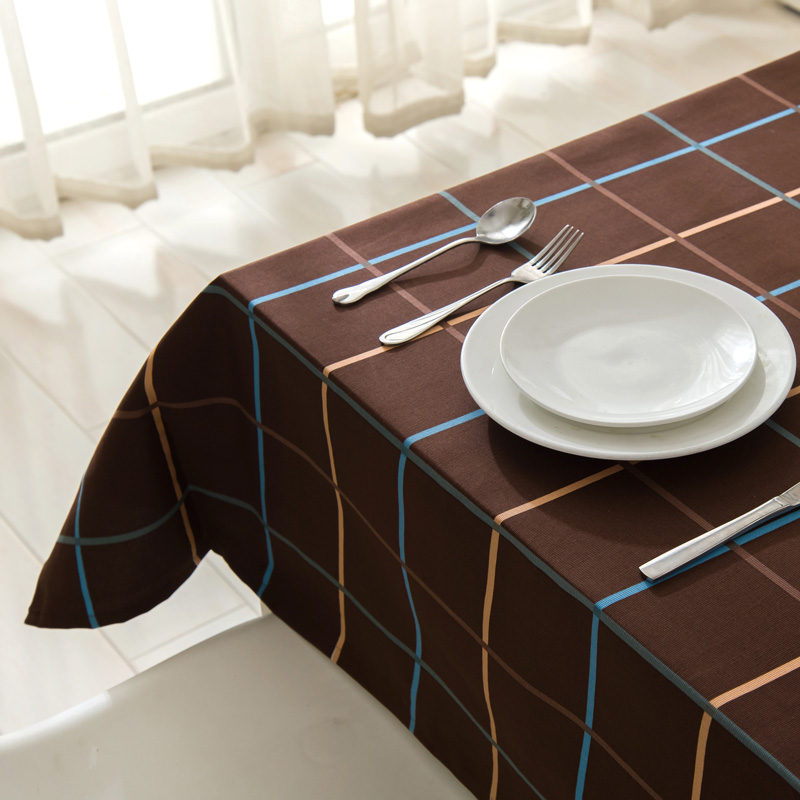 Prague simple coffee table cloth round Plaid PVC Nappe TableCloth Plastic Waterproof Oilproof with Lace Home Textile